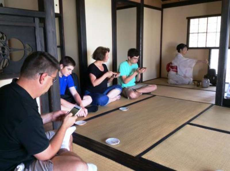 Tea ceremony in July