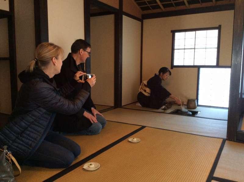Tea ceremony in December