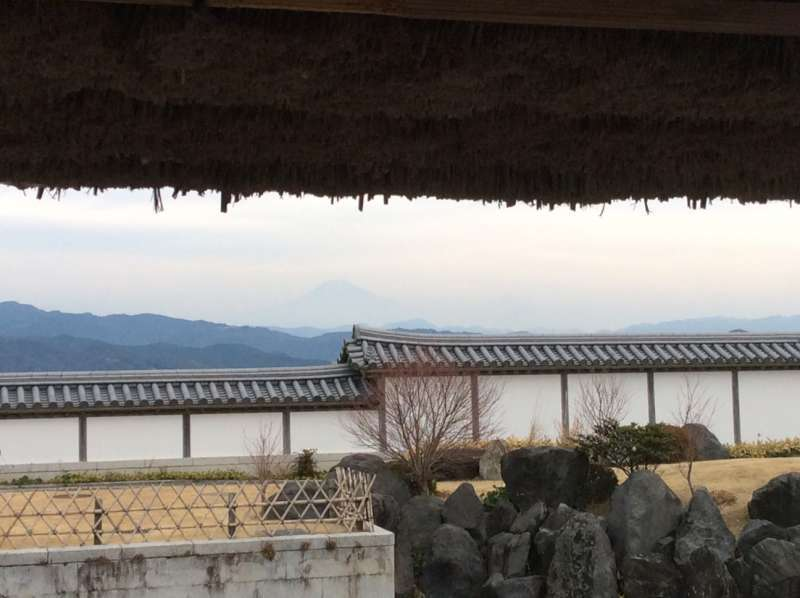 Mt. Fuji from the tea ceremony house