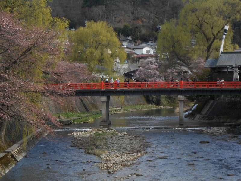 Nakabashi bridge crossing on the Miyagawa river.