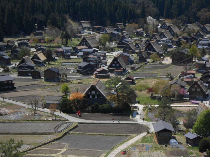 Bird-eye view of Shirakawago village