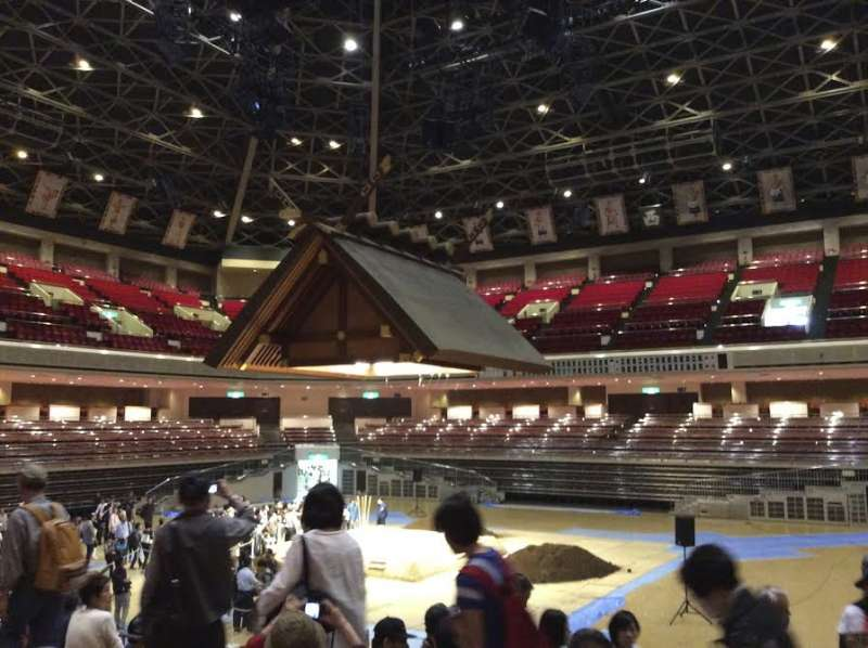 Inside Kokugikan, before the 2016 May Grand Sumo Tournament