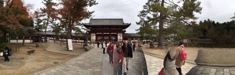 An approach to the main hall of Todaiji