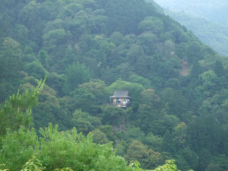 嵐山。從大河內山莊眺望對面的嵐山。