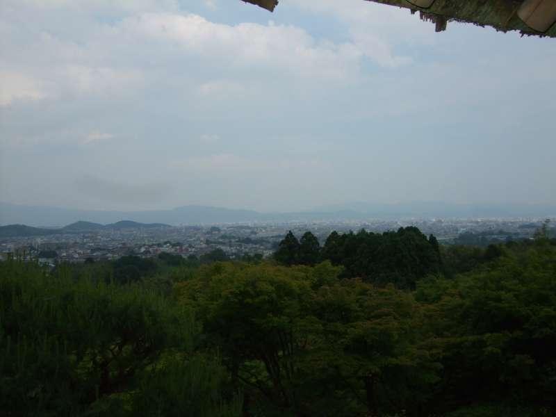嵐山。從大河內山莊眺望京都市內。