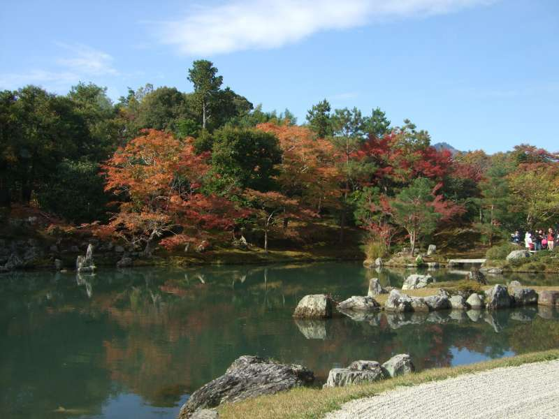 天龍寺‧世界文化遺產。 非常有名的迴游式日式庭園。