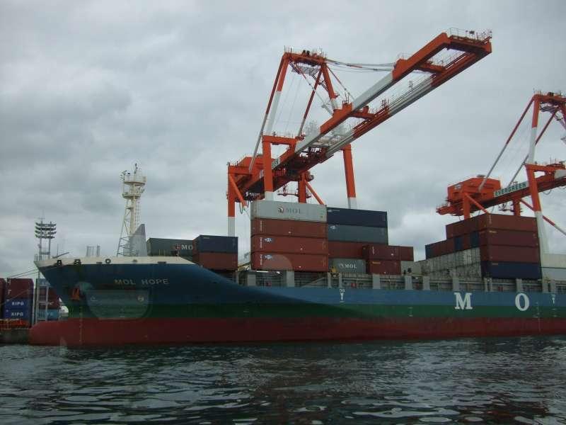 大阪港集裝箱船裝卸碼頭