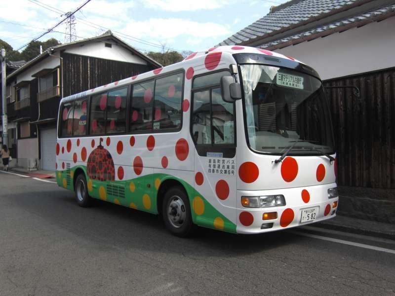 Local bus printed specal design for 2016 Setouchi Trainnale