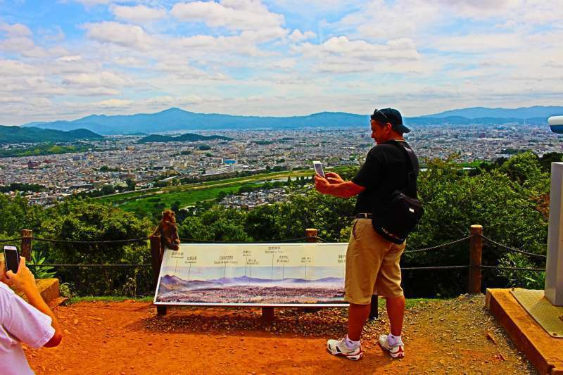 Can't help taking pictures! but don't forget about enjoying the view of Kyoto city!