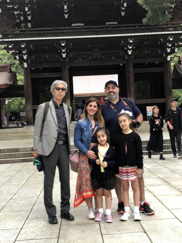 with a lovely family from Australia in Meiji Jingu Shrine