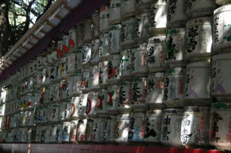 Meiji Shrine Sake Barrel