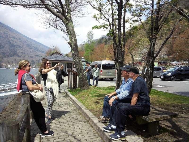 Relaxing time by lake Chuzenji.