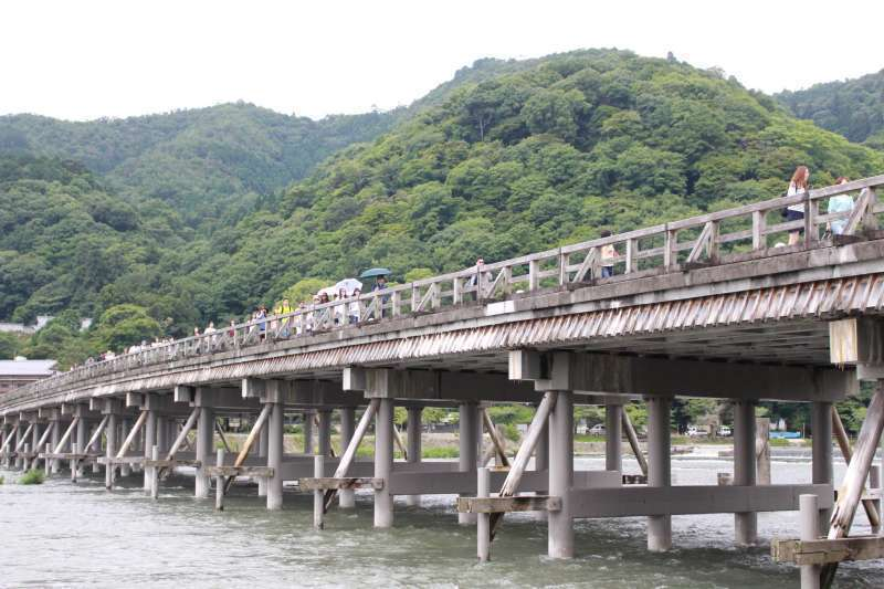 Togetsu Bridge. The landmark of Arashiyama.