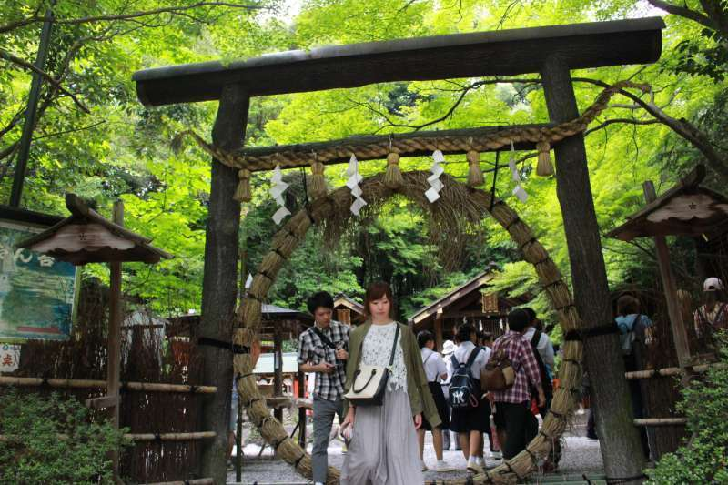 Nomiya Shrine in Arashiyama Bamboo Grove. Known for its god of matchmaking.