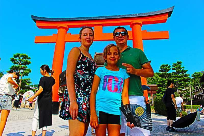 Fushimi Inari Shrine. The entrance torii gate.