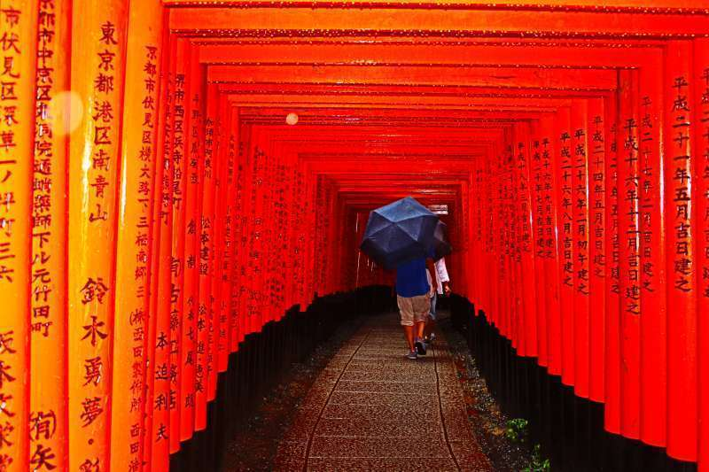Fushimi Inari Shrine. Senbontorii.