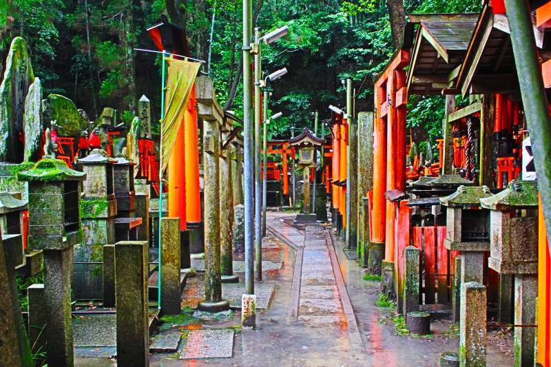Fushimi Inari Shrine. quiet and serene.