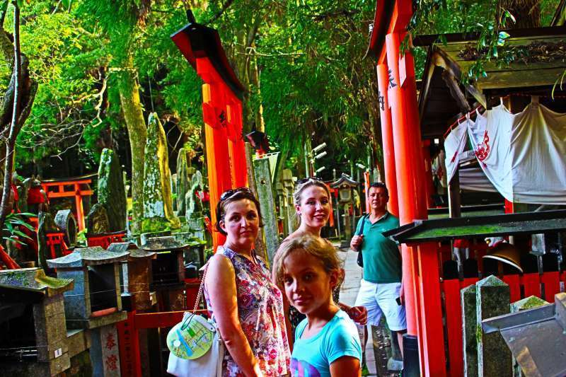 Fushimi Inari Shrine. A great family photo,