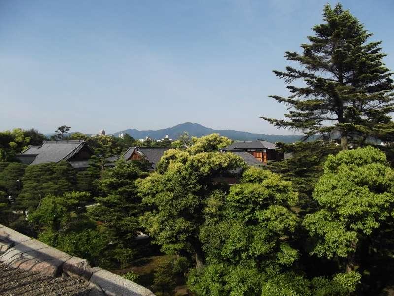 View from the site of former donjon in Nijo-jo Castle.