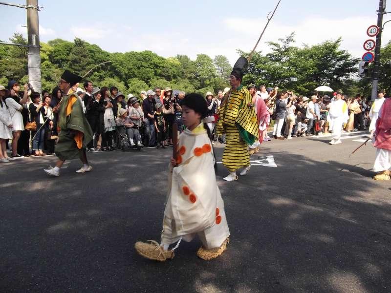 Infant girl of Aoi-matsuri festival.
