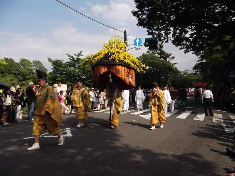 Procession of Aoi-matsuri festival.