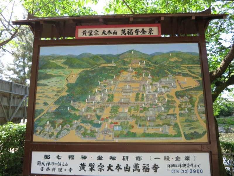 地图(黄檗山万福寺里面)