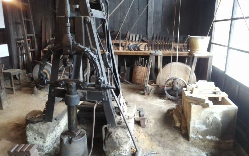 Inside the blacksmith's workshop