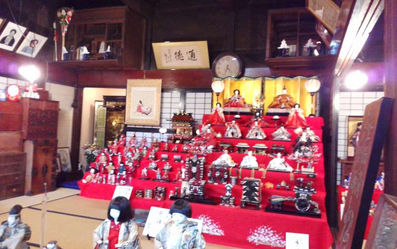 Hina doll display in Kikkawa. This event is held in March every year with 70 houses and shops display their dolls to the public.