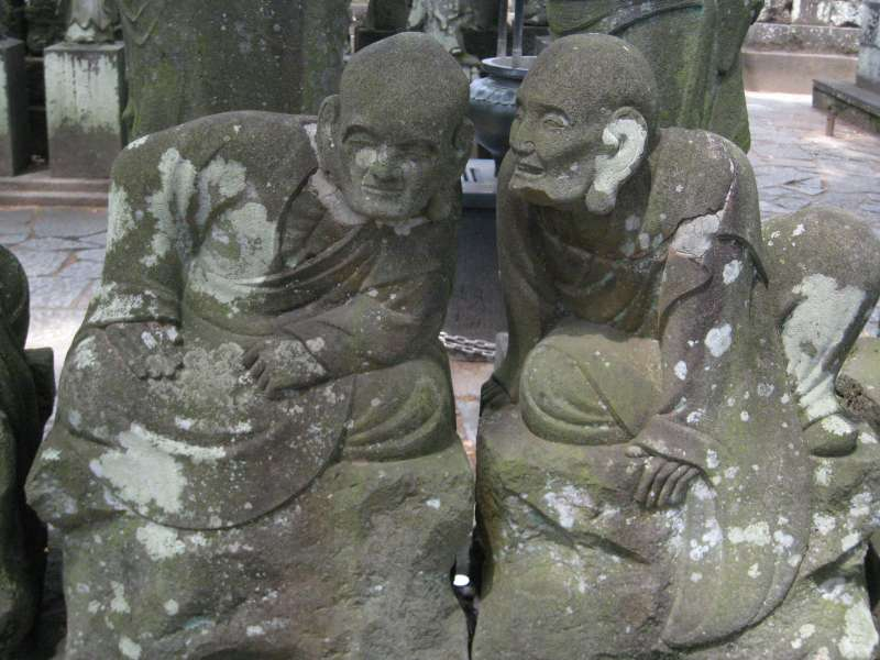 What are they whispering about ? - 500 stone Buddha statues in Kitain Temple
