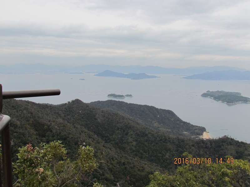 A panoramic view of Seto Inland Sea from Mt.Misen
