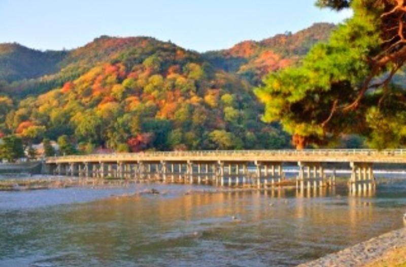Togetsukyo Bridge, one of the scenic spots in Kyoto