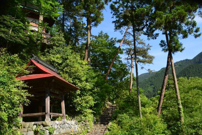 Small temple along Tama river