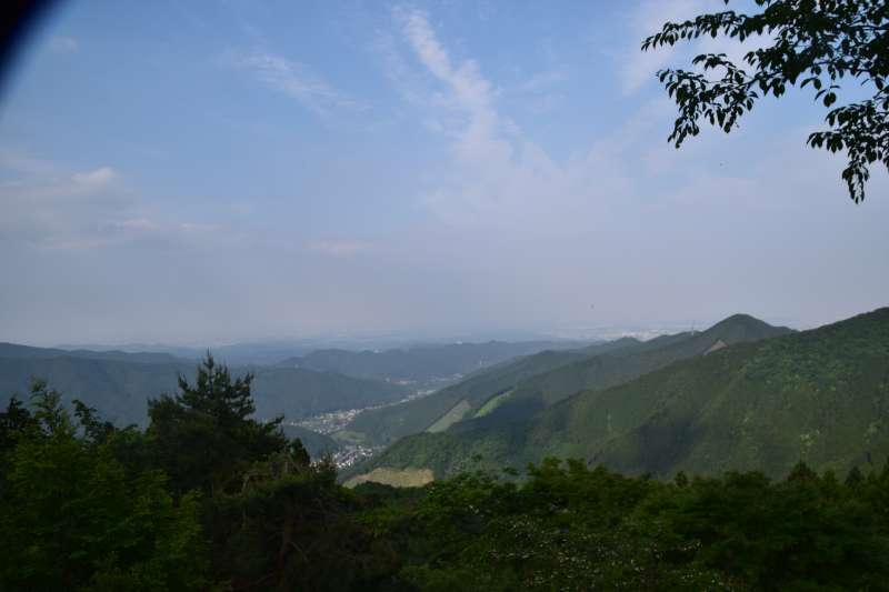 View from Mitakesan Station (Elevation 831m)