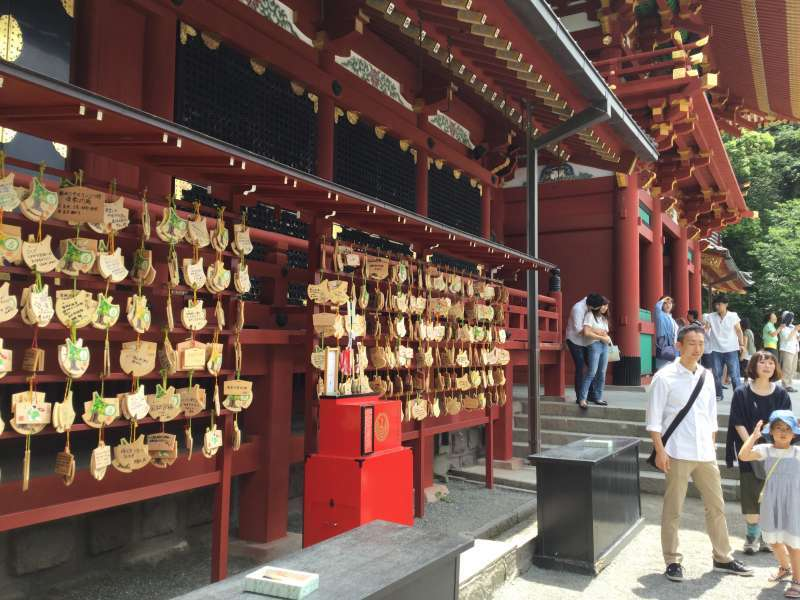Option A: Hachiman-Gu Shrine: Ema on which you write a message