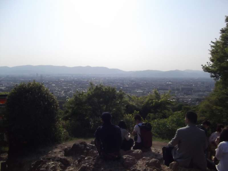 View from Mt. Inari-yama hill.