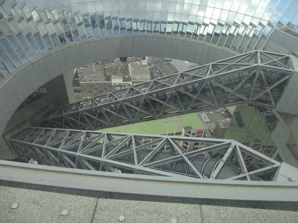 The rooftop of Umeda Sky Building