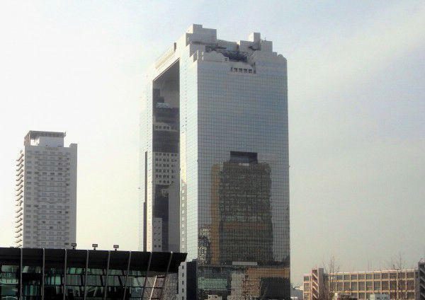The Umeda Sky Building viewed from the Grand Front Osaka