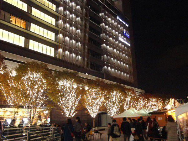 Umekita space in front of the Grand Front Osaka