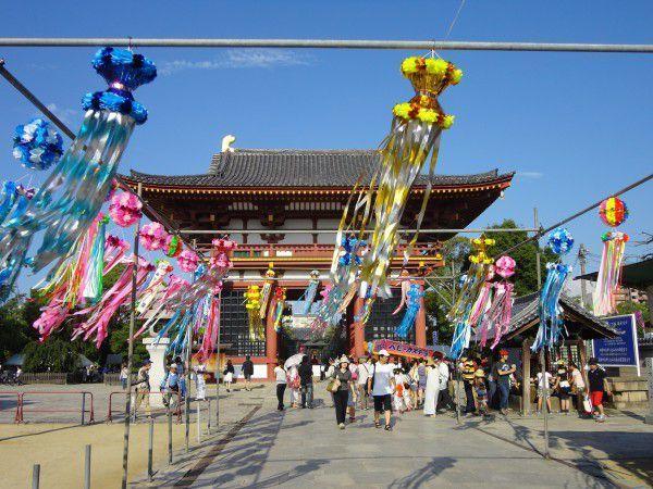 Tanabata Festival in front of the Gokuraku-mon Gate