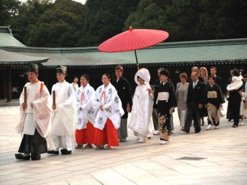 The traditional japanese wedding