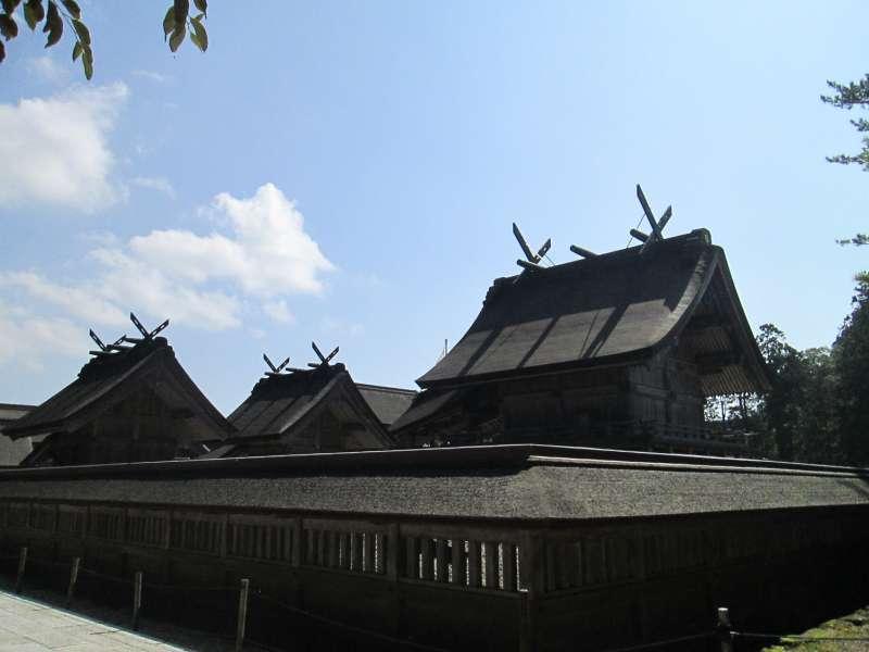 Izumo Grand Shrine's sanctuary where the main deity is enshrined.