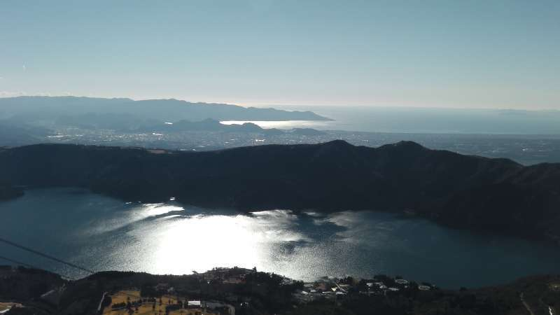 Special#1. Lake Ashi and the Pacific ocean from the summit of Mt. Koma