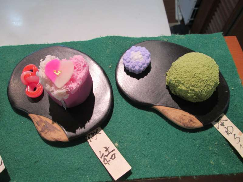 The original Japanese confectionery served with maccha green tea.