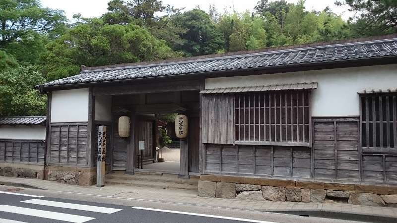 the gate of Samurai Residence