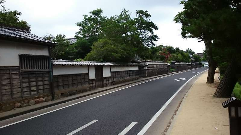 the street in front of Samurai Residence