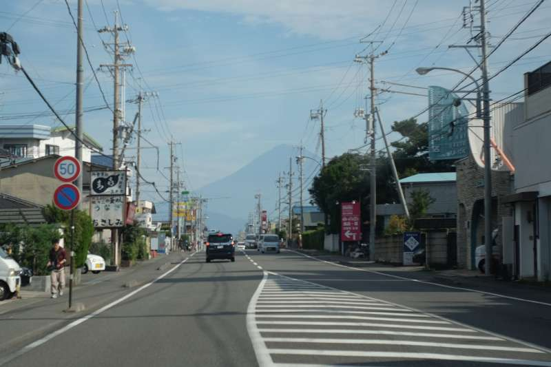 Mt. Fuji as seen from Miho Peninsula (near Miho Pine Grove)