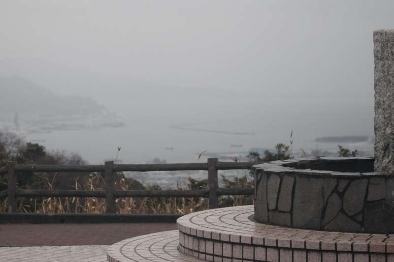 Overlooking the port of Shimizu from the Nihondaira Mt. Fuji Observatory