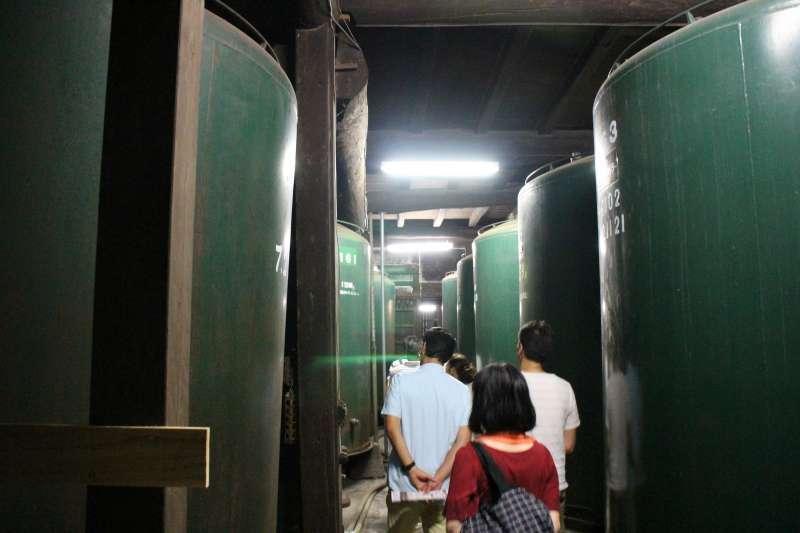 Big tanks in Tokun Sake Brewery