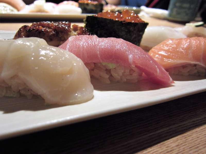 Fresh Sushi at Tsukiji fish market