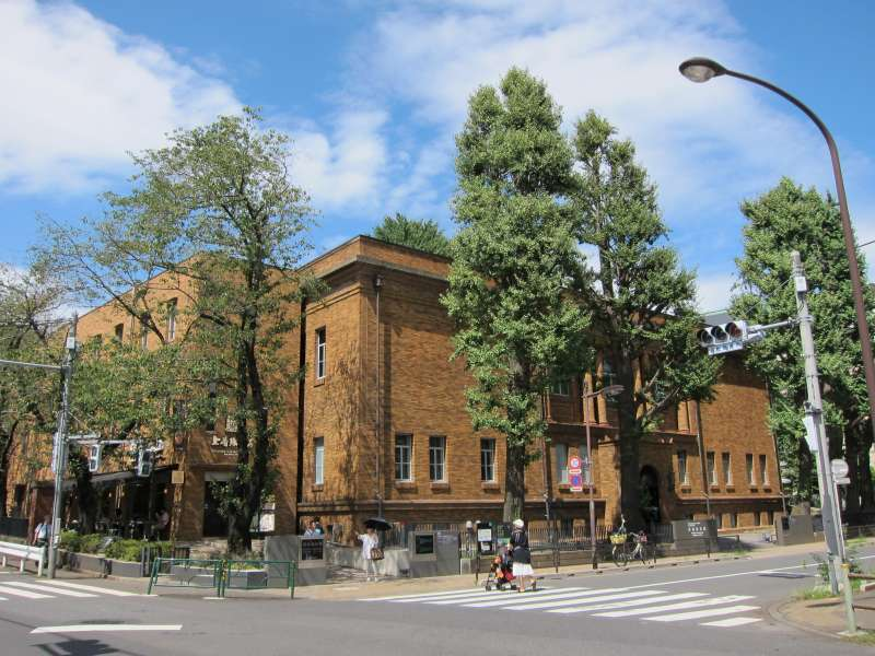 Kuroda Memorial Hall, combining an exhibition hall and cafe, originally built in 1928